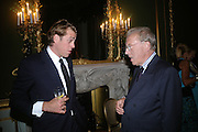 BEN ELLIOT AND SIR DAVID FROST, Cartier launches Inde Mysterieuse. Lancaster House, Stable yard. St. James's. London SW1. 19 September 2007. -DO NOT ARCHIVE-© Copyright Photograph by Dafydd Jones. 248 Clapham Rd. London SW9 0PZ. Tel 0207 820 0771. www.dafjones.com.