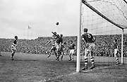 Action during the FAI Cup Final. St Patrick's Athletic beat Drumcondra 2-1..23.04.1961