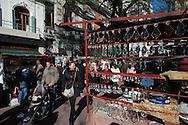At the Sunday flea market in Plaza Dorrego in San Telmo