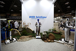 A SEED Solutions humanoid robot is displayed at the World Robot Summit in Tokyo on October 18, 2018. Photo by Farzaneh Khademian/ABACAPRESS.COM