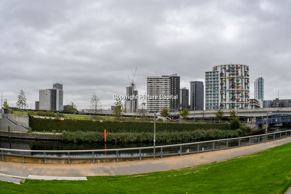 Stratford City changing regeneration architecture build for The Queen Elizabeth Olympic Park , London 2012 London, UK. 11 September 2018.