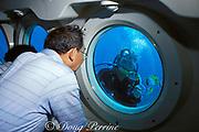 tourists on Atlantis Submarine, Guam, USA, Micronesia, ( Western Pacific Ocean )