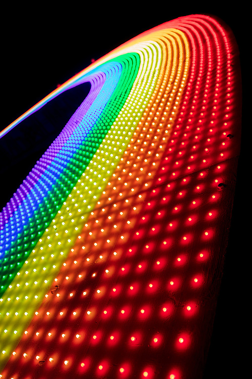 Rainbow Bridge by: Josh Zubkoff from: San Francisco, CA year: 2018<br /> <br /> Debuting at Burning Man 2018, The Rainbow Bridge is a 100′ long walkable rainbow bridge that will rise from the morning mist and dazzle with LEDs at night. A great place for a contemplative walk, romantic stroll, to meet friends, or just to sit and embrace the moment. Rainbows represent love, magic, and wonder – some of our favorite aspects of Burning Man. URL: http://giantrainbow.com Contact: jazlink@gmail.com
