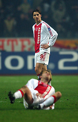 10-12-2002 VOETBAL: CHAMPIONS LEAGUE AJAX - AS ROMA: AMSTERDAM<br /> <br /> ©2002-Ronald Hoogendoorn