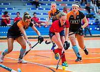 AMSTERDAM -  Elin van Erk (Laren) .  Zaalhockey hoofdklasse, Laren D1-Groningen D1 (2-2). COPYRIGHT KOEN SUYK