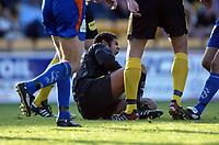Fotball, 1. juni 2003, Tippeligaen 2003, Lillestrøm - Aalesund 1-1. Emille Baron, Lillestrøm<br /> Foto: Anders Hoven, Digitalsport