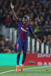 March 14, 2018 - Barcelona, Spain - OUSMANE DEMBELE of FC Barcelona reacts during the UEFA Champions League, round of 16, 2nd leg football match between FC Barcelona and Chelsea FC on March 14, 2018 at Camp Nou stadium in Barcelona, Spain (Credit Image: © Manuel Blondeau via ZUMA Wire)