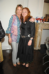 Left to right, MELANIE METCALFE and CAMILLA LOWTHER at a lunch in aid of African Solutions To African Problems held at Il Bottaccio, 9 Grosvenor Place, London on 20th May 2008.<br /><br />NON EXCLUSIVE - WORLD RIGHTS
