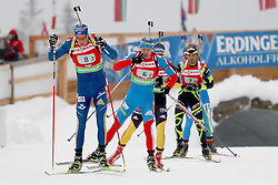11.12.2011, Biathlonzentrum, Hochfilzen, AUT, E.ON IBU Weltcup, 2. Biathlon, Hochfilzen, Staffel Herren, im Bild Ferry Bjoern (Team Sweden) Makoveev Andrei (Team Russia) Birnbacher Andreas (Team Germany) Fourcade Simon (Team France) // during Team Relay E.ON IBU World Cup 2th Biathlon, Hochfilzen, Austria on 2011/12/11. EXPA Pictures © 2011. EXPA Pictures © 2011, PhotoCredit: EXPA/ nph/ Straubmeier..***** ATTENTION - OUT OF GER, CRO *****