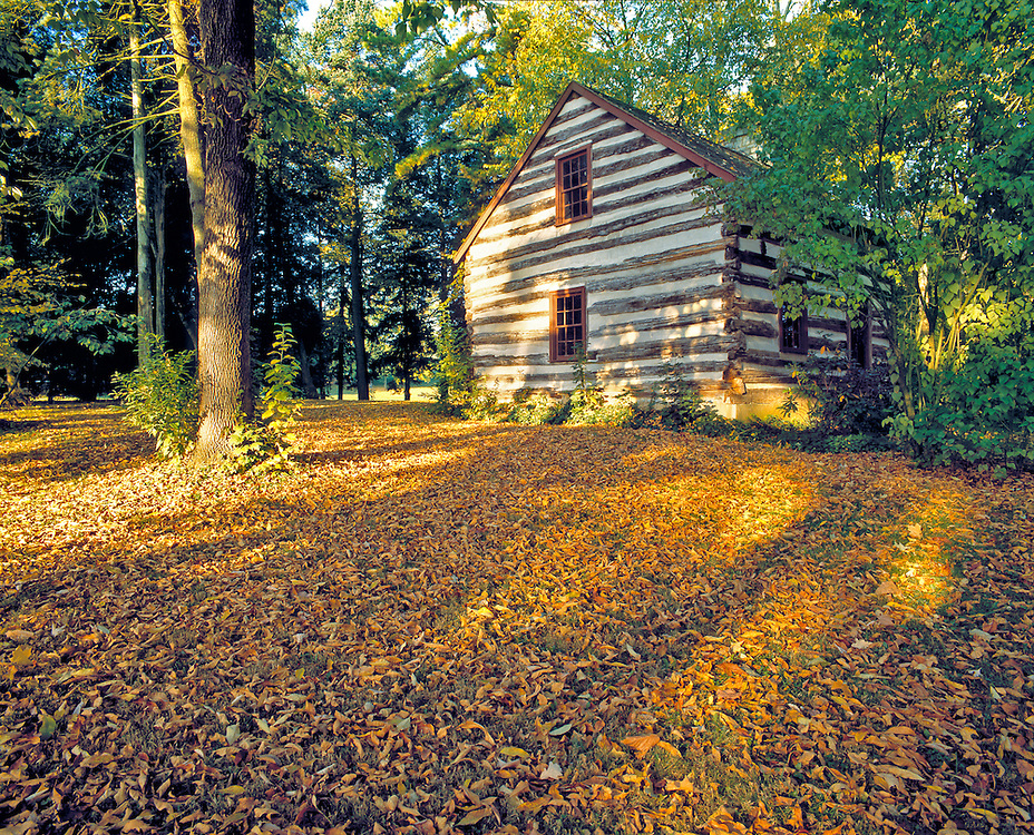 This cabin is President James Buchanan's birthplace in Mercersburg, Pennsylvania.