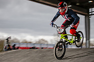 #57 (FORESTA Sophia) USA at the 2018 UCI BMX Superscross World Cup in Saint-Quentin-En-Yvelines, France.