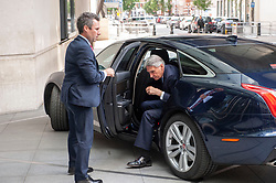Philip Hammond Chancellor of the Exchequer and the Member of Parliament for Runnymede and Weybridge arrives at the BBC before appearing on the Andrew Marr show as a guest.<br /> <br /> Richard Hancox   EEm 21072019
