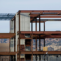 010612  Adron Gardner<br /> <br /> The new building addition to the magistrate court complex on Boardman Ave. takes shape in Gallup Sunday.