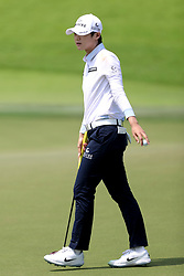 March 3, 2019 - Singapore - Sung Hyun Park of South Korea acknowledges the crowds applause after her putt on the 18th hole during the final round of the Women's World Championship at the Tanjong Course, Sentosa Golf Club. (Credit Image: © Paul Miller/ZUMA Wire)