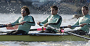 PUTNEY, LONDON, ENGLAND, 18.03.2006, Pre 2006 Boat Race Fixture, Cambridge UBC vs Leander BC.  left to right, Stroke: Kip McDaniel, 7. Tom James. 6. Kieran West,  over part of the Championship Course  from Putney to Mortlake.   © Peter Spurrier/Intersport-images.com.left to right, Stroke: Kip McDaniel, 7. Tom James. 6. Kieran West, [Mandatory Credit Peter Spurrier/ Intersport Images] Varsity Boat Race, Rowing Course: River Thames, Championship course, Putney to Mortlake 4.25 Miles