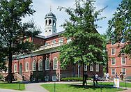 Harvard Hall on the Harvard University campus in Cambridge.