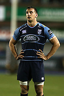 Sam Warburton of Cardiff Blues looks on. Guinness Pro12 rugby match, Cardiff Blues v Glasgow Warriors Rugby at the Cardiff Arms Park in Cardiff, South Wales on Friday 16th September 2016.<br /> pic by Andrew Orchard, Andrew Orchard sports photography.