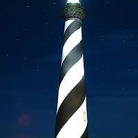 A light painting done at the Cape Hatteras Light House in Buxton, NC