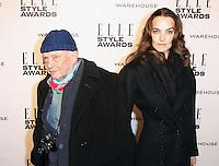 David Bailey; Catherine Bailey, ELLE Style Awards, One Embankment, London UK, 18 February 2014, Photo by Richard Goldschmidt