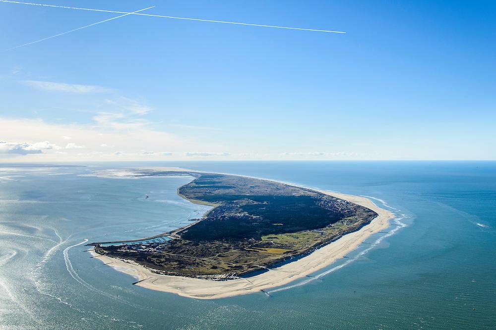 Nederland, Friesland, Vlieland, 28-02-2016; Vlieland gezien vanauit het oosten, vanaf Terschelling.<br /> Wadden island Vlieland.<br /> <br /> luchtfoto (toeslag op standard tarieven);<br /> aerial photo (additional fee required);<br /> copyright foto/photo Siebe Swart