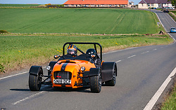 Pictured: Classic Car Rally. North Berwick, East Lothian, 28 April 2019. North Berwick Rotary Club holds its 3rd rally with 65 class cars entered. The oldest date back to 1958 (a Bentley and a Mini). Entrants come from all over Scotland, and even from Southern England. The drive takes them through Northumberland and Scottish Borders before returning to Archerfield estate, raising money for local charities, including Muirfield Riding Therapy, The Vine Trust and Maggie's Centres.<br /> Sally Anderson   EdinburghElitemedia.co.uk