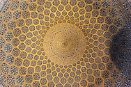 Iran. Isfahan . Sheikh Lotf Allah Mosque. The Lotfollah Mosque - The Private Room of the Shah's Harem