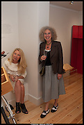 CLAIR WATSON; NANCY HONEY, Born in the USSR, Design exhibition opening. Gallery Elena Shchukina, Beauchamp Place, Knightsbridge. London. 15 September 2014.