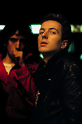 Joe Strummer during a London west end late night photosession 1976