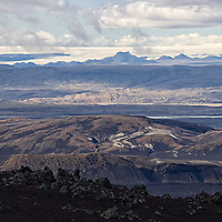 When you arrive at the top you will enjoy breathtaking views of the higlands below the summit of Hekla.