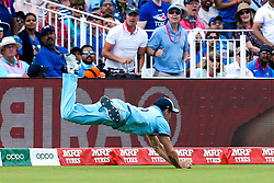 Chris Woakes of England takes a catch to dismiss Rishabh Pant of India - Mandatory by-line: Robbie Stephenson/JMP - 30/06/2019 - CRICKET - Edgbaston - Birmingham, England - England v India - ICC Cricket World Cup 2019 - Group Stage