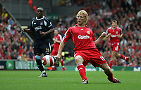 Photo: Paul Thomas.<br /> Liverpool v West Ham United. The Barclays Premiership. 26/08/2006.<br /> <br /> New signing Dirk Kuyt of Liverpool.