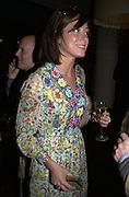Miss D. Gumball 3000. Pre-race  dinner hosted by Armani and Maximillion. Ubon, Canary Wharf. London. 23 April 2001.