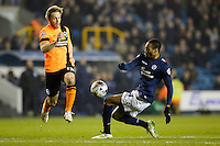 Brighton & Hove Albion's Craig Mackail-Smith is tackled by Millwall's Shaun Cummings<br /> <br /> Photographer Craig Mercer/CameraSport<br /> <br /> Football - The Football League Sky Bet Championship - Millwall v Brighton and Hove Albion - Tuesday 17th March 2015 - The Den - London<br /> <br /> © CameraSport - 43 Linden Ave. Countesthorpe. Leicester. England. LE8 5PG - Tel: +44 (0) 116 277 4147 - admin@camerasport.com - www.camerasport.com