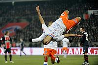 FOOTBALL - FRENCH CHAMPIONSHIP 2011/2012 - L1 - PARIS SAINT GERMAIN v MONTPELLIER HSC  - 19/02/2012 - PHOTO JEAN MARIE HERVIO / REGAMEDIA / DPPI - JOY YOUNES BELHANDA (MHSC) AFTER HIS GOAL