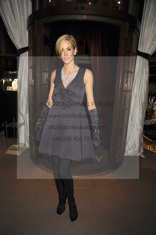 LISA BUTCHER at the Asprey Winter Wonderland party held at their store, 167 New Bond Street, London on 4th December 2008.