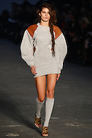 Isabeli Fontana walks the runway wearing Alexander Wang Spring 2010 collection during Mercedes-Benz Fashion Week in New York, NY on September 11, 2009