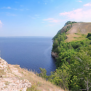 "Molodetsky barrow on the bank of Volga river in Russian National Park ""Samara Luka"""