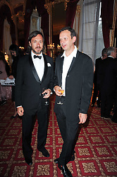 Left to right, MARC NEWSON and TOM DIXON at a dinner hosted by HRH Prince Robert of Luxembourg in celebration of the 75th anniversary of the acquisition of Chateau Haut-Brion by his great-grandfather Clarence Dillon held at Lancaster House, London on 10th June 2010.