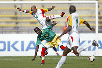 Fotball<br /> African Nations Cup 2004<br /> Afrika Mesterskapet 2004<br /> Foto: Digitalsport<br /> Norway ONLY<br /> <br /> FIRST ROUND - GROUP B - 040202<br /> SENEGAL v MALI<br /> <br /> EL HADJI DIOUF (SEN) / FOUSSEINYI DIAWARA (MALI)