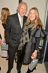 HAROLD TILLMAN and GEORGINA KRON at the launch of the new J&M Davidson flagship shop at 104 Mount Street, London on 3rd February 2016.