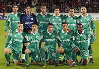 Fotball<br /> Champions League 2002/03<br /> Bayer Leverkusen v Maccabi Haifa<br /> 23. oktober 2002<br /> Foto: Digitalsport<br /> NORWAY ONLY<br /> Lagbilde Maccabi Haifa<br /> Bak fra venstre: Dovani ROSSO, Dudu AWATE, Adoram KEISE, Michael ZANDBERG, Alon HARAZI, Benado ARIK<br /> <br /> Foran fra venstre: Raimondas ZUTAUTAS, Avishay ZANO, Nenad PRALIJA, Valid BADEER, Yakubu AYEGBEN
