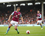 James Chester of Aston Villa during the Sky Bet Championship match at Craven Cottage, London<br /> Picture by Richard Brooks/Focus Images Ltd 07947656233<br /> 17/04/2017