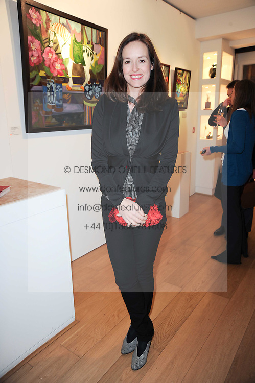 VISCOUNTESS GRIMSTON at a private view of recent paintings, drawings and prints by Dione Verulam (Countess of Verulam) held at Sladmore Contemporary art gallery, 32 Bruton Place, London on 10th February 2010.