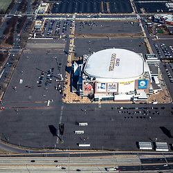 Aerial view of the Wells Fargo Center, home of the philadelphia Flyers