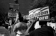 Bill Clinton as Governor of Arkansas and US Presidential Candidate during the Presidential Election Campaign October 1992. Scans made in 2017.<br /> Seen here: Students at Paine College, Augusta Georgia wait for candidate Clinton to show up.<br /> Paine College is a private, coeducational historically black liberal arts college located in Augusta, Georgia, United States. It is affiliated with the United Methodist Church and Christian Methodist Episcopal Church.<br /> Photographs on the road on the 1992 Presidential Election campaign trail from Philadelphia and down the eastern states to Atlanta in Georgia. Clinton went on to become the 42nd President of the United States serving two terms from 1993 to 2001.