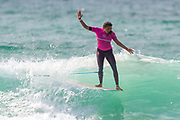 Alice Lemoigne (FRA) Winner of Final of Longboard Pro Surfing Championships at Boardmasters 2019 at Fistral Beach, Newquay, Cornwall, United Kingdom on 11 August 2019.