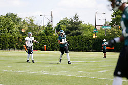 Philadelphia Eagles Tight End James Childers #80 during the NFL football rookie camp at the teams practice facility on Saturday, May 17, 2014. (Photo by Brian Garfinkel)