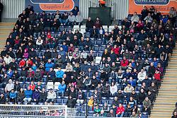 South stand. <br /> Falkirk 0 v 3 Hibernian, Scottish Championship game played at The Falkirk Stadium 2/5/2015.