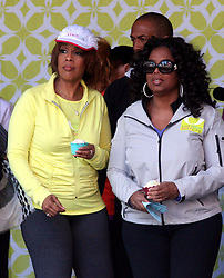 May 09, 2010 - New York, New York, U.S. - GAYLE KING and OPRAH WINFREY at Times Square Celebration for ''Live Your Best Life'' Charity Walk to celebrate the 10th Anniversary of O, The Oprah Magazine in New York City on 05-09-2010.   2010..K64754HMc(Credit Image: © Henry McGee/ZUMApress.com)