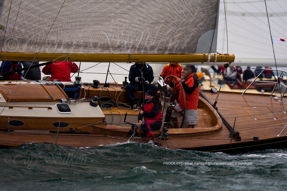 Blackfish sailing in the Sail Nantucket Regatta, day one.